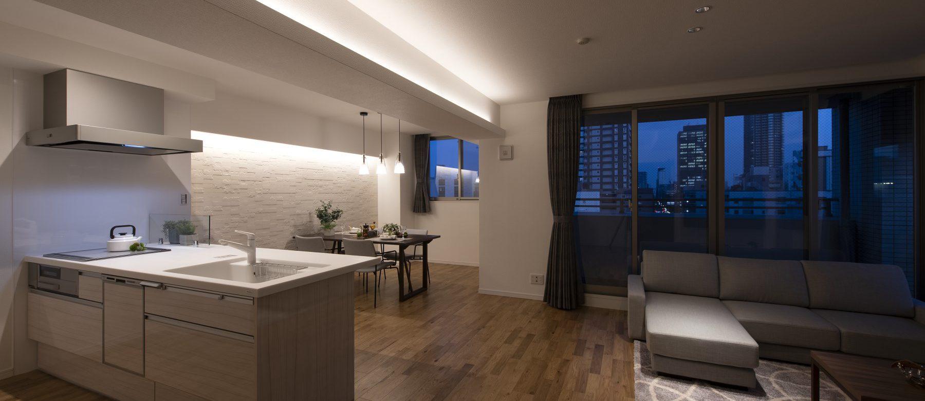 間接照明が素敵なマンションリフォーム