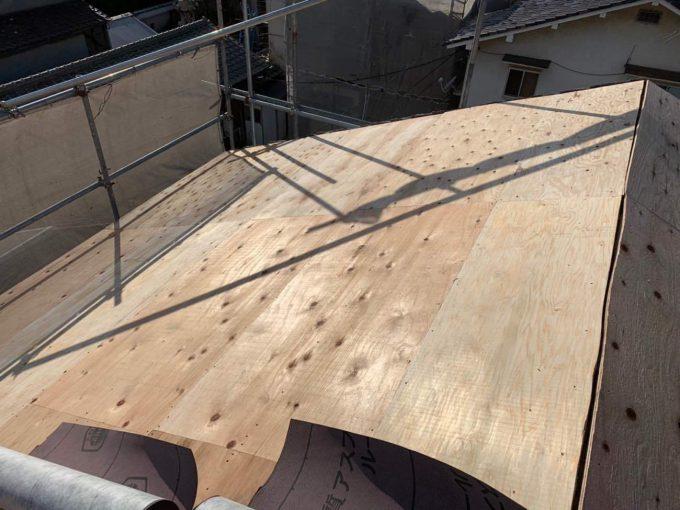 野地板 屋根リフォーム
